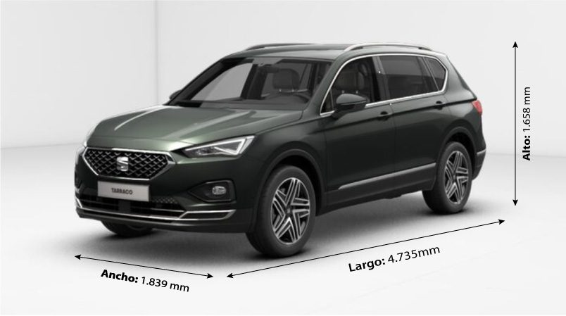 SEAT Tarraco 2019 Dimensiones